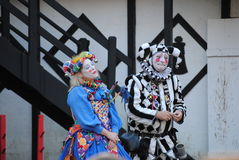 Pa Ren Fair. Jester and clown at the Pennsylvania Renaissance Fair 2011 Stock Images