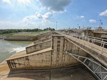 The Pa Sak Cholasit Dam Project is one of the major irrigation projects of Thailand. The dam also decreases problems of water management in Bangkok by stock photo