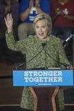 PA : Secrétaire Hillary Clinton Campaigns Rally à Philadelphie Photo stock