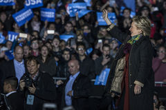 PA : Secrétaire Hillary Clinton et sénateur Tim Kaine Campaign Rally à Philadelphie Photographie stock