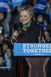 PA : Secrétaire Hillary Clinton et sénateur Tim Kaine Campaign Rally à Philadelphie Photographie stock libre de droits