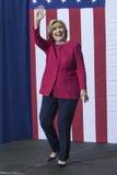 PA: Secretário Hillary Clinton Campaigns Rally em Harrisburg imagens de stock