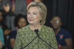 PA: Secretaresse Hillary Clinton Campaigns Rally in Philadelphia Royalty-vrije Stock Foto's