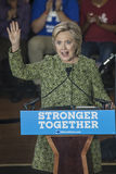 PA: Secretaresse Hillary Clinton Campaigns Rally in Philadelphia Stock Foto