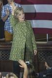 PA: Secretaresse Hillary Clinton Campaigns Rally in Philadelphia Royalty-vrije Stock Fotografie