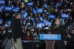 PA: Secretaresse Hillary Clinton & Senator Tim Kaine Campaign Rally in Philadelphia Royalty-vrije Stock Foto's