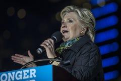 PA: Secretaresse Hillary Clinton & Senator Tim Kaine Campaign Rally in Philadelphia Stock Foto