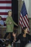 PA: Sekretarki Hillary Clinton kampanii wiec w Filadelfia Obrazy Stock