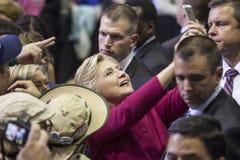 PA: Sekretarki Hillary Clinton kampanii wiec w Harrisburg Zdjęcia Royalty Free