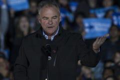 PA: Sekretarki Hillary Clinton & senatora Tim Kaine kampanii wiec w Filadelfia Zdjęcie Stock