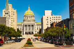 PA State Capitol Building Summertime Stock Photography