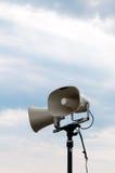 PA  system. PA system on a pole Royalty Free Stock Photography