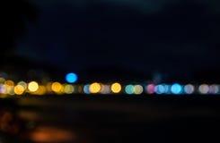 PA-tångstrand på det suddiga fotoet för natt royaltyfri fotografi