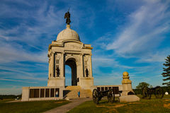 PA-tillståndsminnesmärke i Gettysburg PA Arkivbild