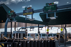 PA Turnpike Entrance Toll Booth Signs Royalty Free Stock Photography