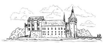 Pałac Blatna i kasztel Fotografia Stock