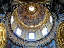 Pantheon Dome Interior, Rome Royalty Free Stock Photo