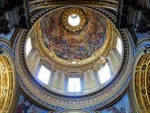 Pantheon Dome Interior, Rome Royalty Free Stock Photo