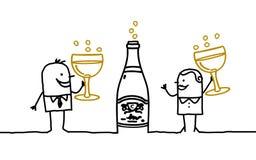 Paar & Champagne Royalty-vrije Stock Afbeeldingen