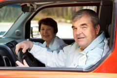 Paar in auto Royalty-vrije Stock Foto's