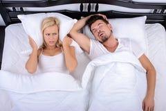 Paar in bed Stock Afbeelding