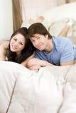 Paar in bed Royalty-vrije Stock Afbeeldingen