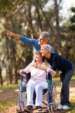 Paar bejaarde moeder Stock Foto
