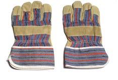 Paar beschermende handschoenen Stock Afbeeldingen