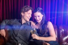 Paar bij club Stock Afbeelding
