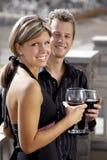Paar bij de Partij Stock Foto's