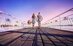 Paar bij het Meer van Issyk Kul Royalty-vrije Stock Afbeelding