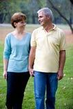 Paar bij het park Royalty-vrije Stock Foto