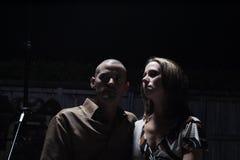 Paar bij Nacht Stock Foto