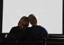 Paar in bioskoop royalty-vrije stock foto's