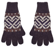 Paar Bruine Handschoenen Stock Foto's
