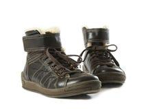 Paar bruine laarzen Royalty-vrije Stock Foto's