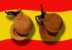 Paar castagneten met weg Royalty-vrije Stock Foto