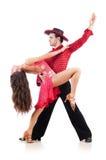 Paar dansers Royalty-vrije Stock Fotografie