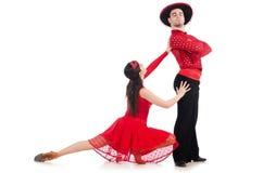Paar geïsoleerdes dansers Stock Foto's