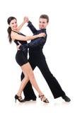 Paar geïsoleerdee dansers Stock Fotografie
