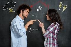 Paar dat Argument heeft Stock Afbeelding