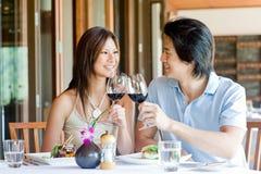 Paar dat Diner heeft Royalty-vrije Stock Foto