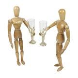 Paar dat een Glas opheft aan elkaar Stock Afbeelding