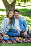 Paar dat een picknick heeft Royalty-vrije Stock Foto's