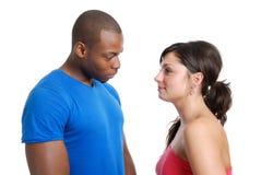 Paar dat elkaar bekijkt Royalty-vrije Stock Foto's
