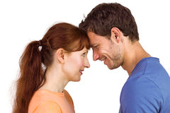Paar dat elkaar bekijkt Stock Foto