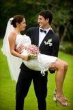 Paar dat Gehuwd wordt Royalty-vrije Stock Afbeeldingen