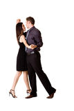 Paar dat gelukkig danst Stock Afbeelding