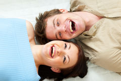 Paar dat ogenblik samen deelt Stock Fotografie