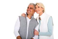 Paar dat omhoog kijkt Royalty-vrije Stock Foto's